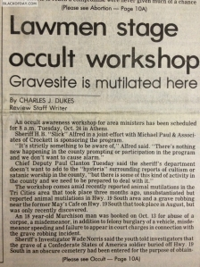 Occult in Athens, TX